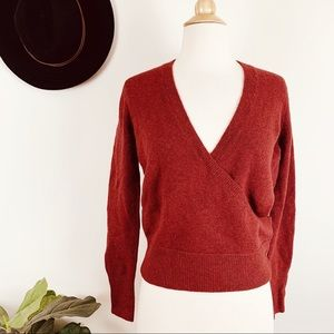 NEW Madewell faux wrap pullover sweater